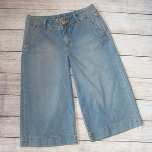 Christopher Blue Wide Leg Goucho Style Jeans 8